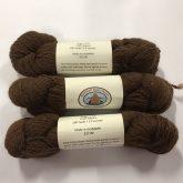 3 skeins of chocolate brown alpaca yarn