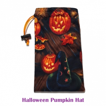 Drawstring Bag Halloween Pumpkin Hat