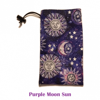 Drawstring Bag Purple Moon Sun
