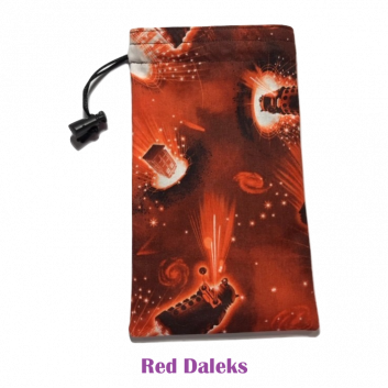 Drawtring Bag Red Daleks