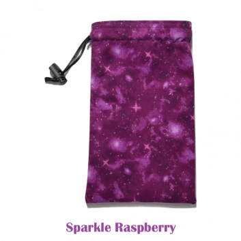 Drawstring Bag Sparkle Raspberry