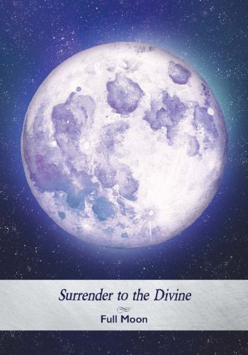 Full Moon card from the Moonology Oracle Deck