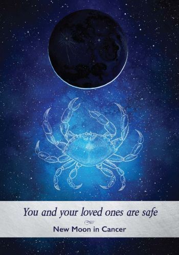 New Moon in Cancer card from the Moonology Oracle Deck