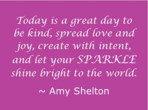 be kind, create with intent, SPARKLE