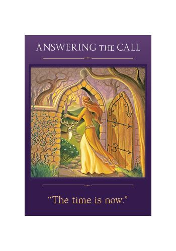 Answering the Call card from the Sacred Traveler oracle deck