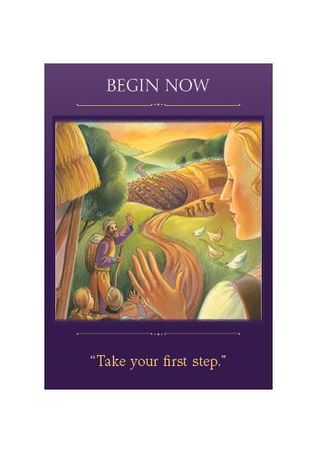 Begin Now card from the Sacred Traveler oracle deck