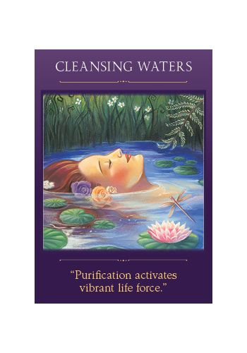 Cleansing Waters card from the Sacred Traveler oracle deck