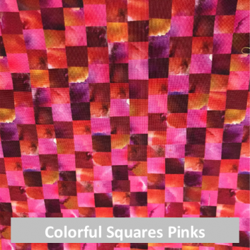 Colorful Squares - Pink and Orange