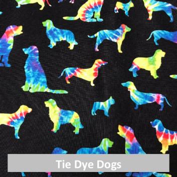 tie dye dogs fabric