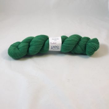 Amanda Lace yarn in color Dublin, a kelly green