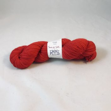 Fred Sock yarn in color Town of York, red
