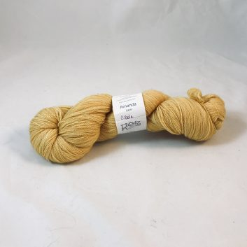 Amanda Lace yarn in color Cibola, a mustard yellow