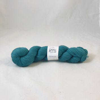 Amanda Lace yarn in color Poitou, a medium teal