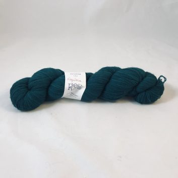 Amanda Lace yarn in color Aquitaine, a very dark teal