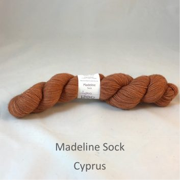 Madeline sock yarn, color Cyprus