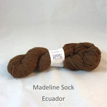 Madeline sock yarn, color Ecuador