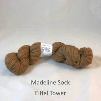 Madeline sock yarn, color Eiffel Tower