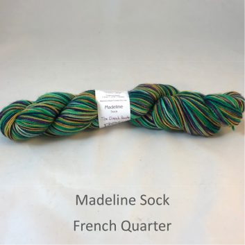 Madeline sock yarn, color French Quarter