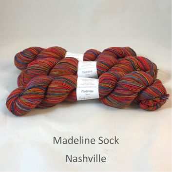 Madeline sock yarn, color Nashville