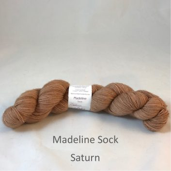Madeline sock yarn, color Saturn