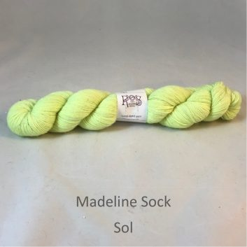 Madeline sock yarn, color Sol