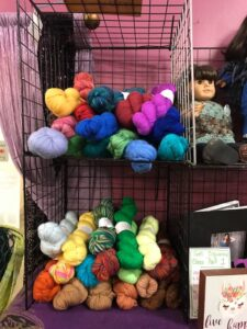 selection of yarn in SPARKLE Studio