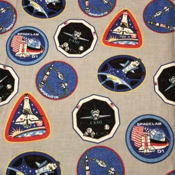 NASA Patches on gray