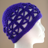 Starflower Hat: openwork crochet stitch pattern