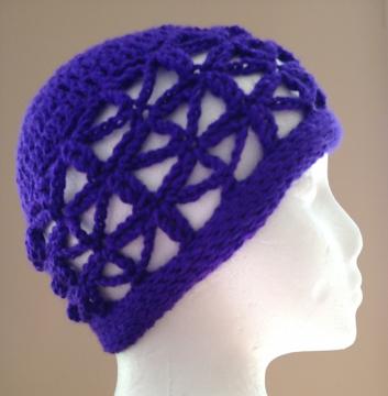 Starflower Hat: openwork crochet stitch pattern