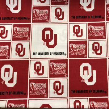 University of Oklahoma fabric