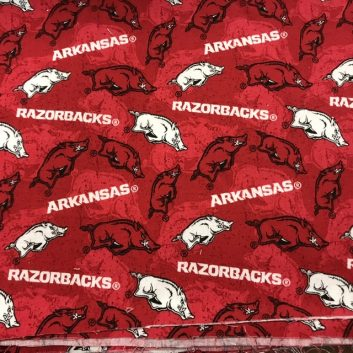 Arkansas Razorback fabric