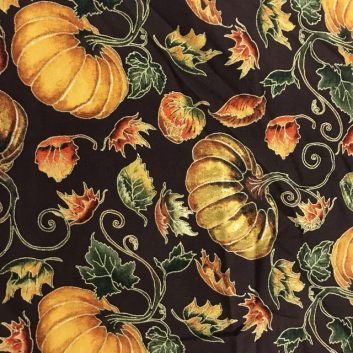 Fabric with pumpkins