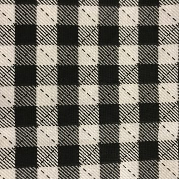 fabric with black and white checks