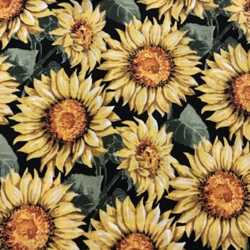 Fabric with sunflowers