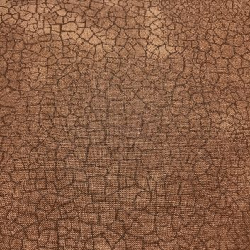 Fabric with brown crackle print