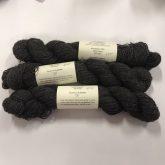 3 skeins of dark charcoal alpaca/merino yarn